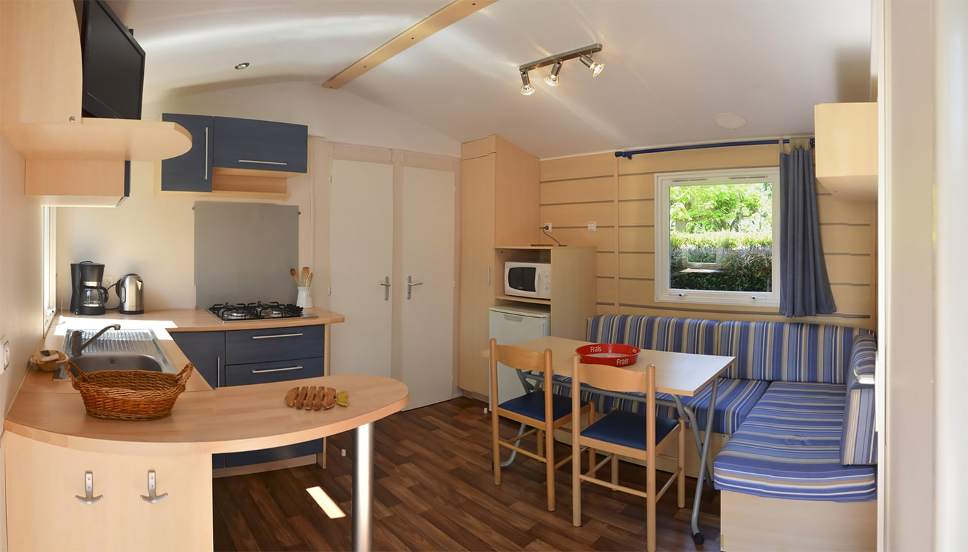Location Mobil Home Etang Camping Le Garrit Dordogne Périgord Noir