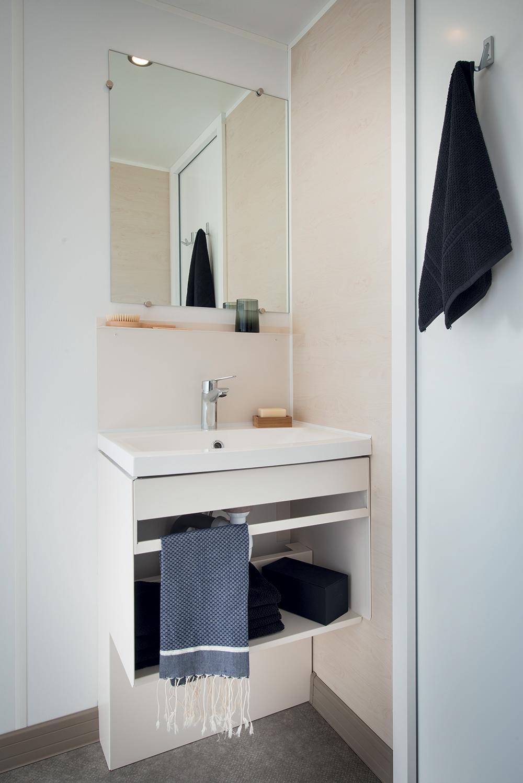 mobil-home 3 chambres salle de bain camping en Dordogne