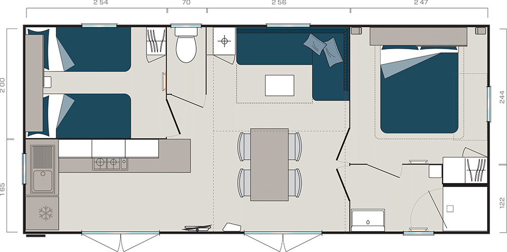riviera-suite-2-chambres-plan