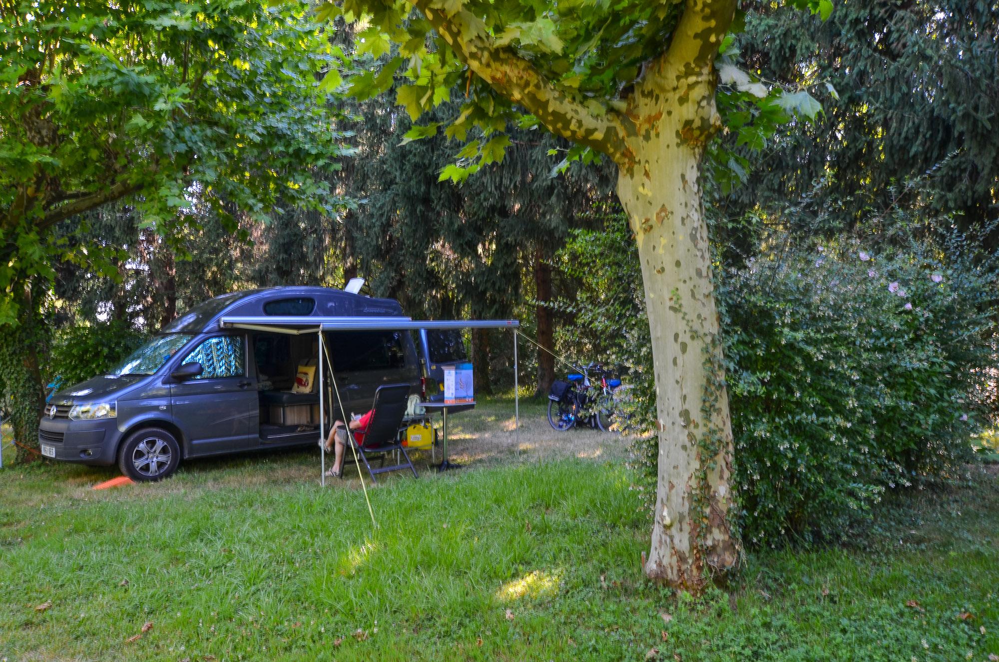Emplacements ombragés au camping Dordogne