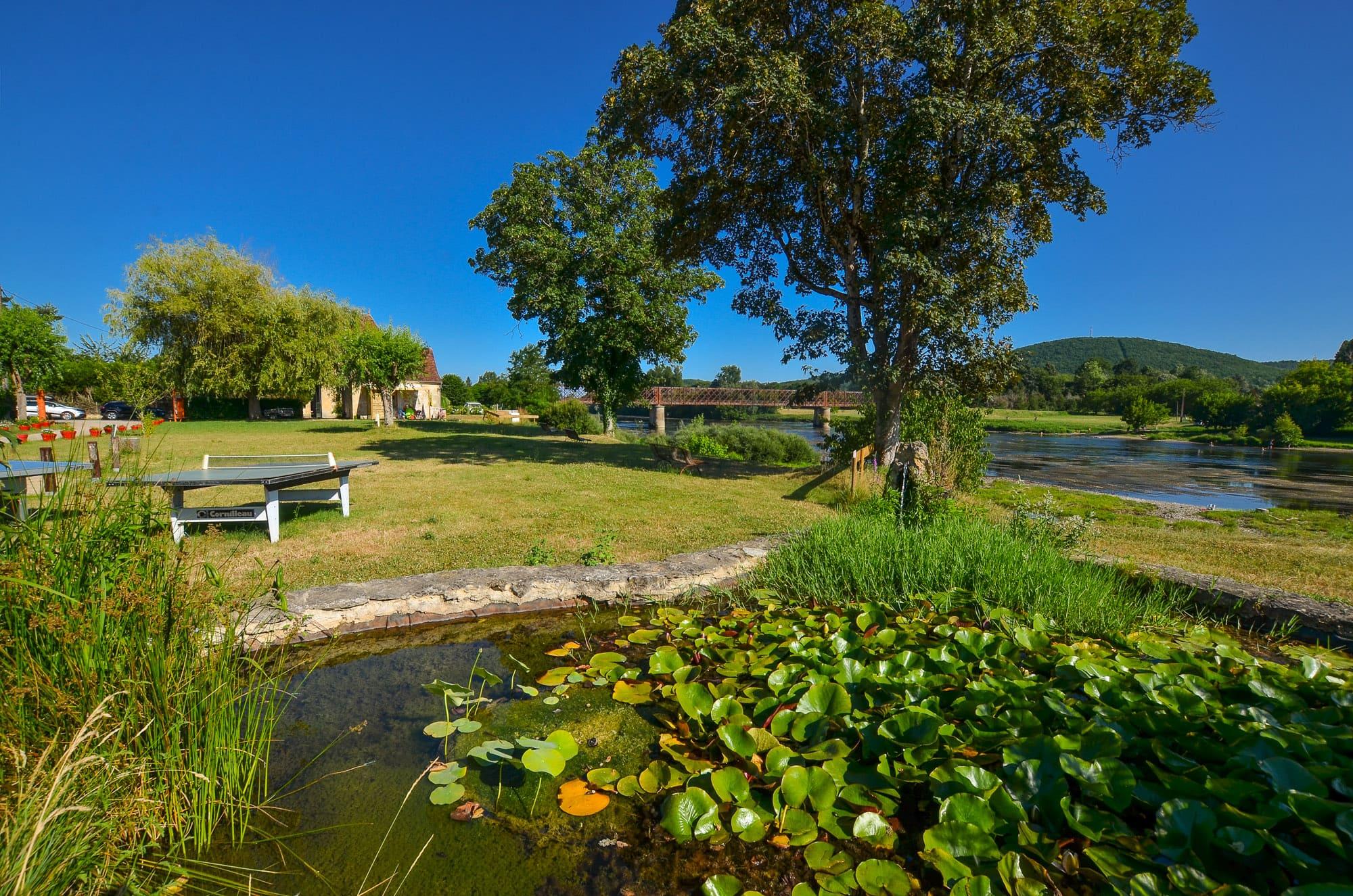 Camping Le Garrit*** au bord de la rivière Dordogne, en Périgord Noir