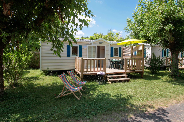 Location de mobil-home en camping en Périgord au bord de la Dordogne IRM Mercure 26 - 27