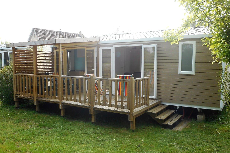 Location de mobil-home en camping en Périgord au bord de la Dordogne IRM Riviera suite 29