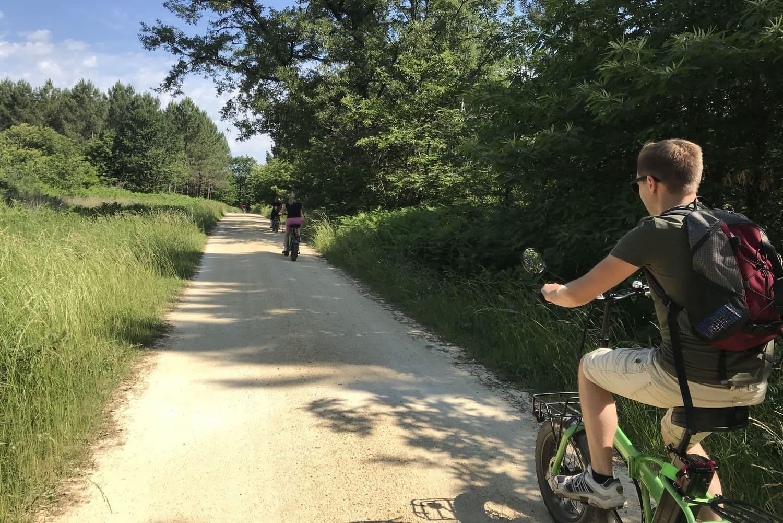 Balade vélo départ camping Dordogne Le Garrit